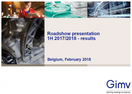 Cover Roadshow - Results 1H 2017-2018