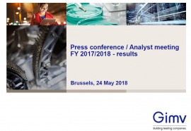 Cover 20180524 - Press conference/Analyst meeting - Results FY 2017-2018